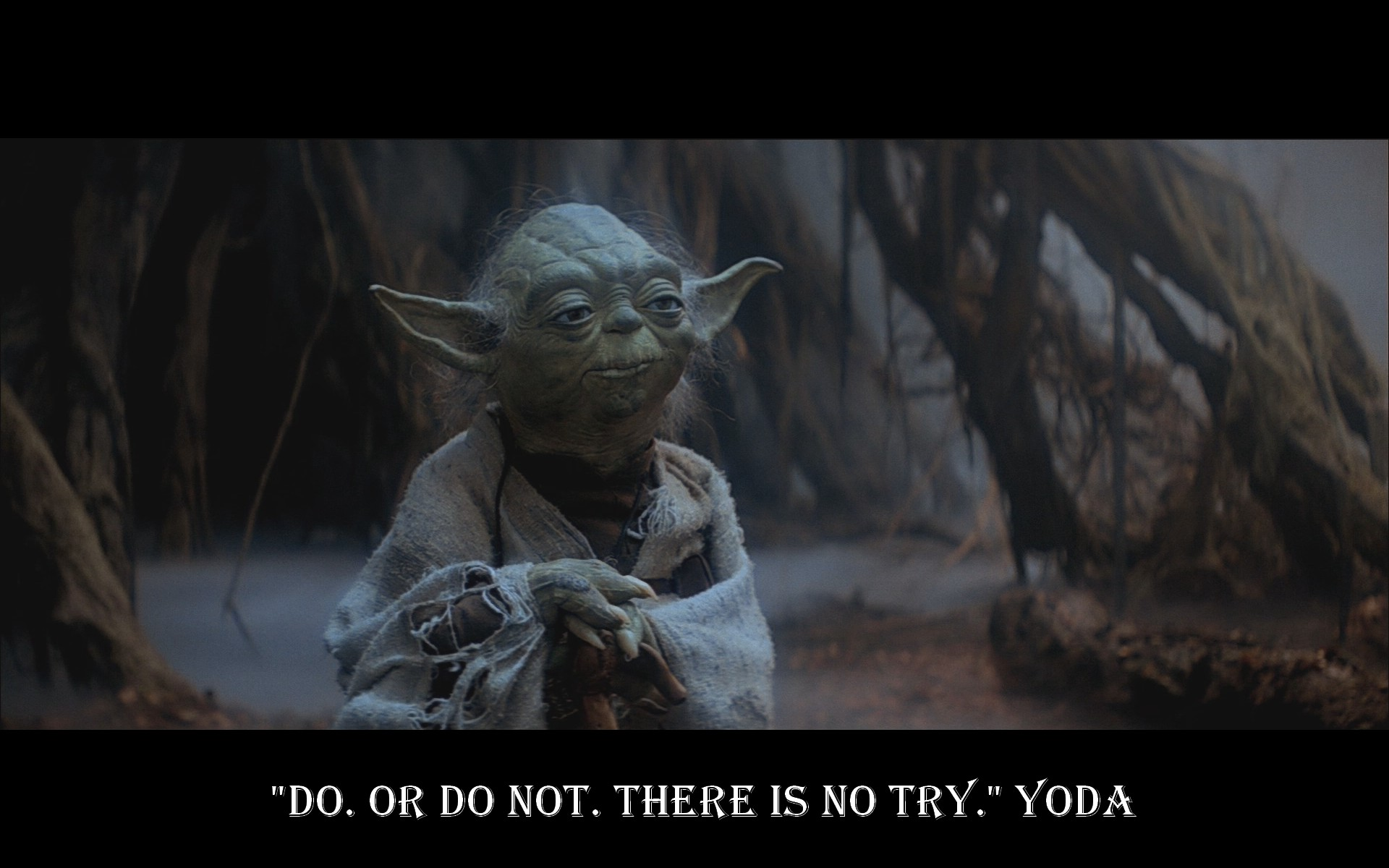 Yoda quotes from the movie quotesgram - Star wars quotes wallpaper ...